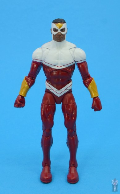 marvel legends falcon figure review - front