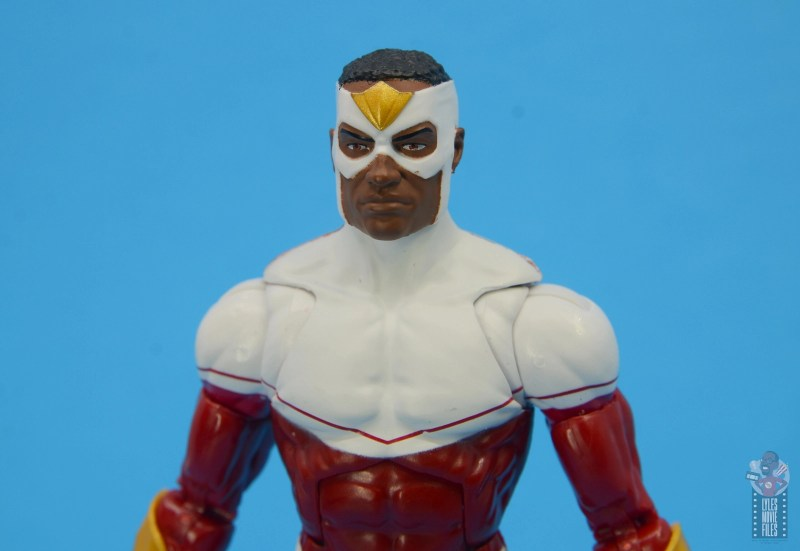 marvel legends falcon figure review -mask paint