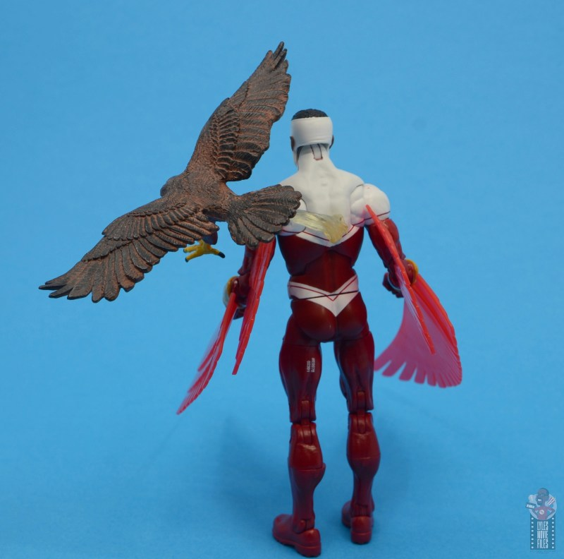 marvel legends falcon figure review - redwing plugged in