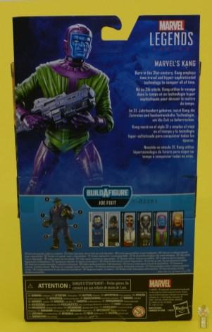 marvel legends kang figure review - package rear