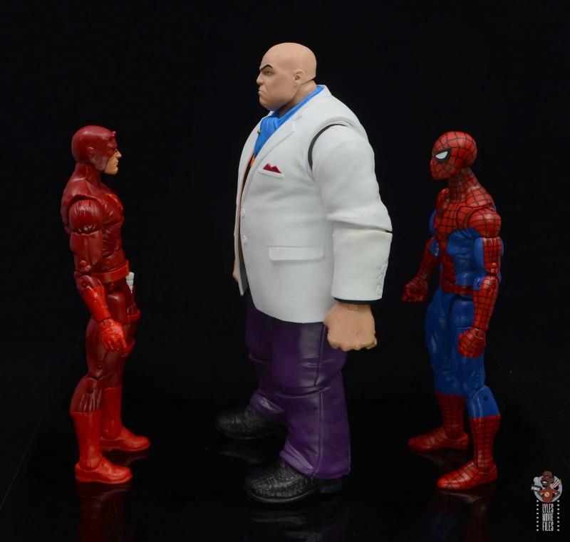 marvel legends retro kingpin figure review - facing daredevil and spider-man