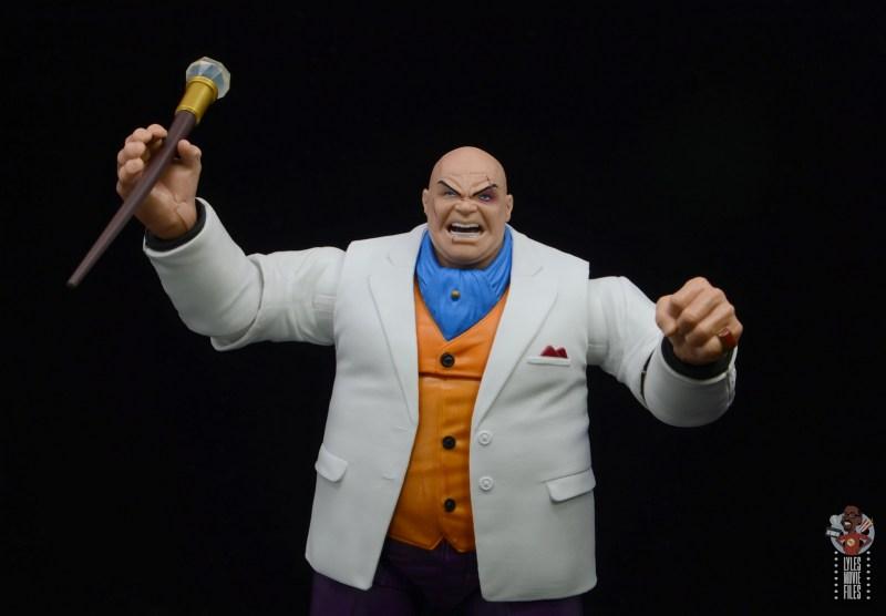 marvel legends retro kingpin figure review -wide lifting cane