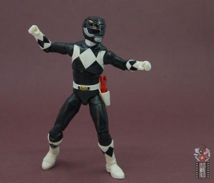 power rangers lightning collection black ranger figure review - battle stance
