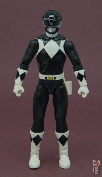 power rangers lightning collection black ranger figure review - front
