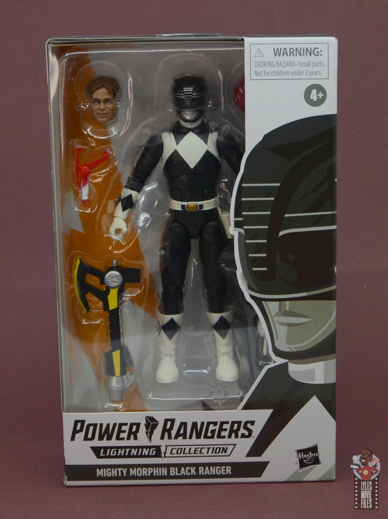power rangers lightning collection black ranger figure review - package front
