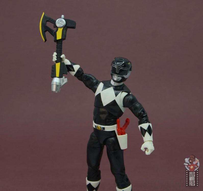 power rangers lightning collection black ranger figure review - raising axe