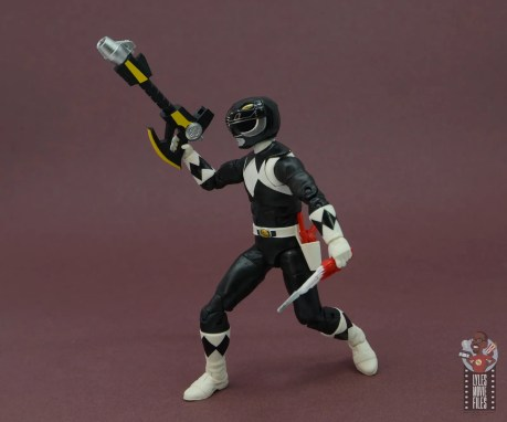 power rangers lightning collection black ranger figure review - weapons at the ready