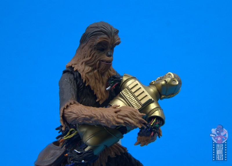 star wars the black series chewbacca and c-3p0 figure set review - assembling c-3po