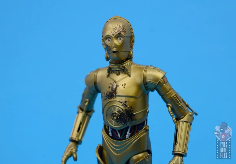 star wars the black series chewbacca and c-3p0 figure set review - c-3po close up