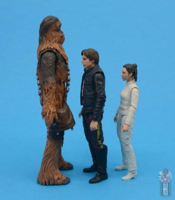 star wars the black series chewbacca and c-3p0 figure set review - facing han solo and leia
