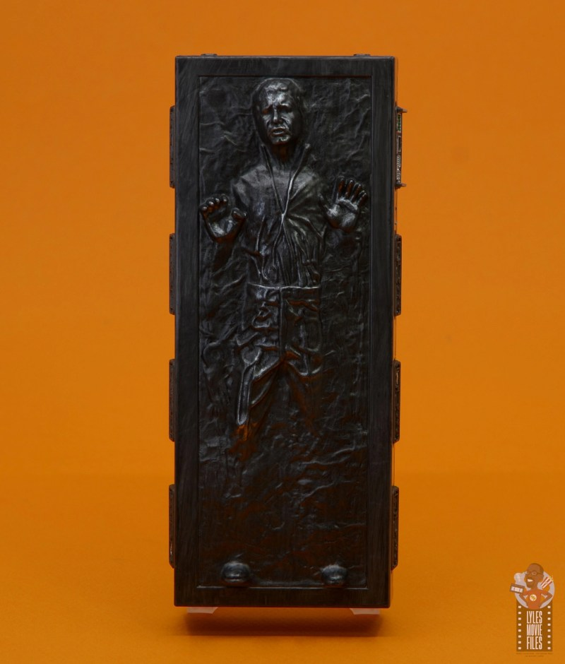 star wars the black series han solo in carbonite figure review - front