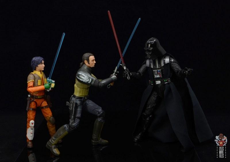 star wars the black series kanan jarrus figure review - protecting ezra from darth vader
