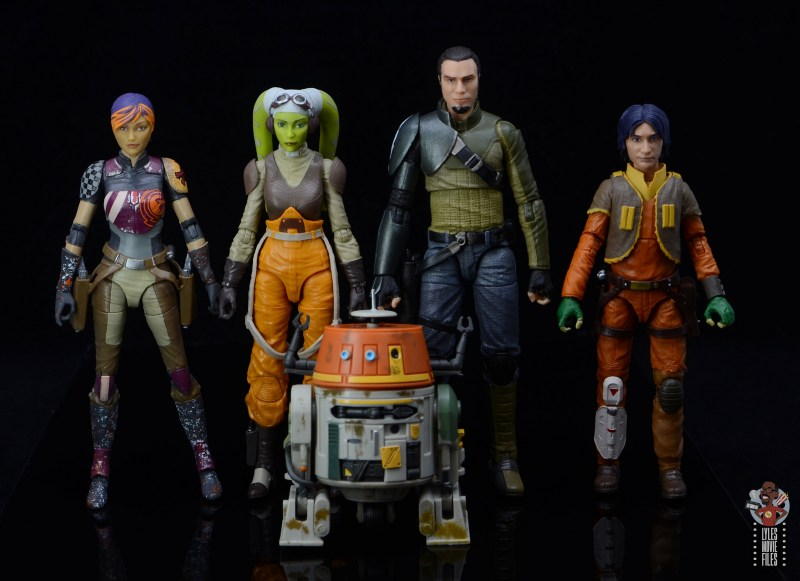star wars the black series kanan jarrus figure review -scale with sabine wren, hera syndulla, chopper and ezra bridger