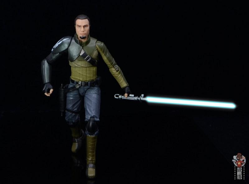 star wars the black series kanan jarrus figure review - walking with lightsaber lit