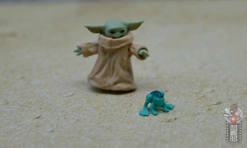 star wars the black series the child figure review - chasing the frog