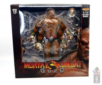 storm collectibles mortal kombat goro figure review - package front
