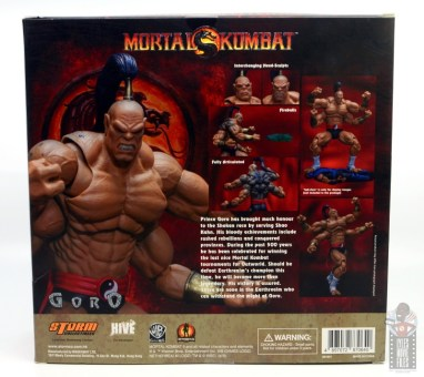 storm collectibles mortal kombat goro figure review - package rear