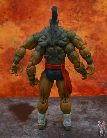 storm collectibles mortal kombat goro figure review - rear