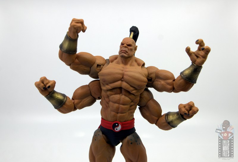 storm collectibles mortal kombat goro figure review - victory pose