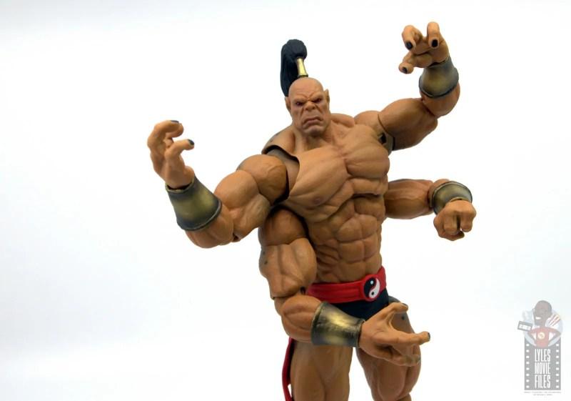 storm collectibles mortal kombat goro figure review - wide shot