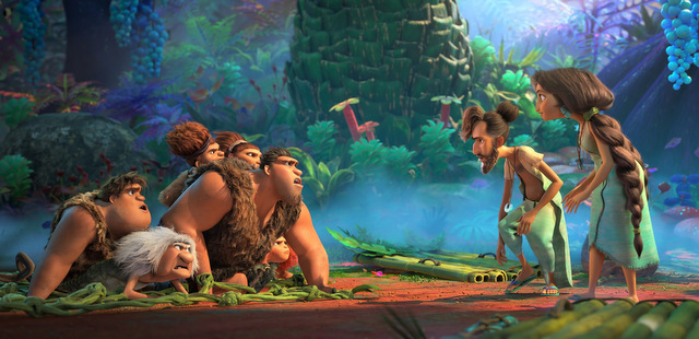 the croods a new age review - the croods meet the bettermans