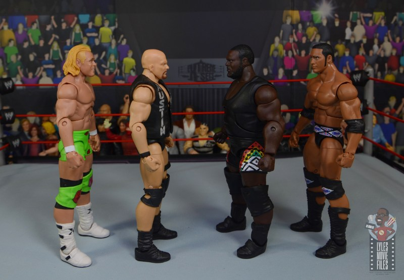wwe decade of destruction mark henry figure review -facing billy gunn, stone cold and the rock