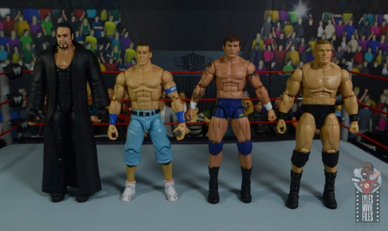 wwe decade of domination randy orton figure review - scale with undertaker, john cena and brock lesnar