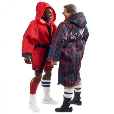 wwe elite collection two packs - roddy piper vs mr t - wearing robes
