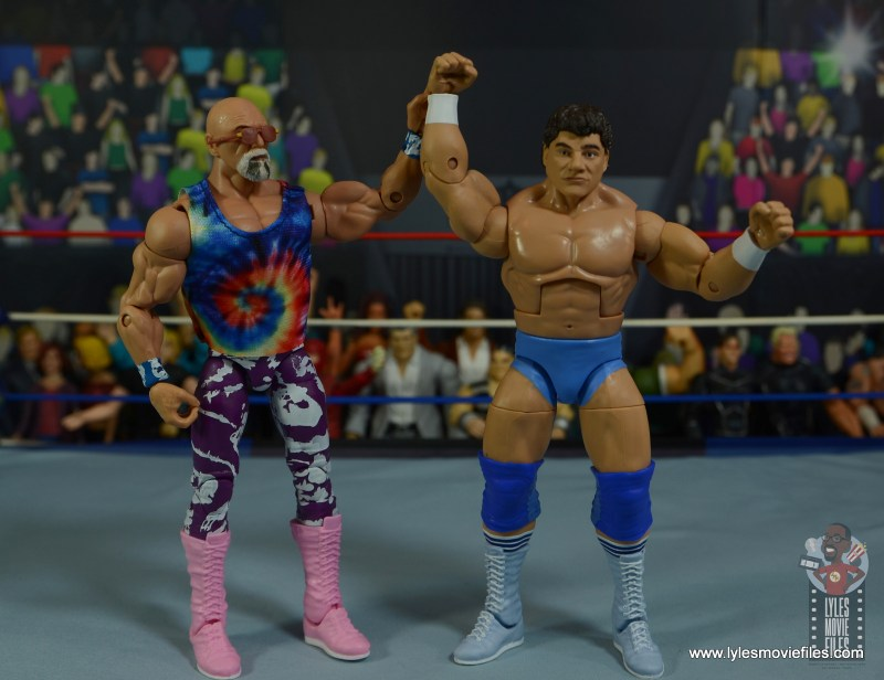wwe elite don muraco figure review - celebrating with superstar billy graham