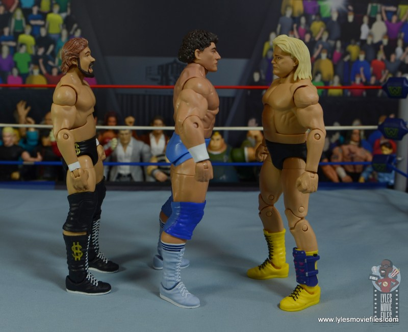 wwe elite don muraco figure review - facing ted dibiase and greg valentine