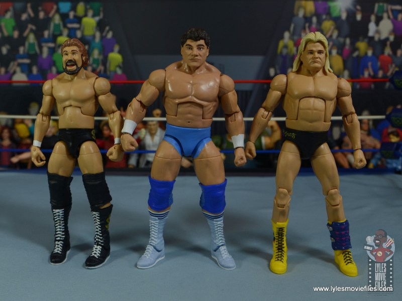 wwe elite don muraco figure review - scale with ted dibiase and greg valentine