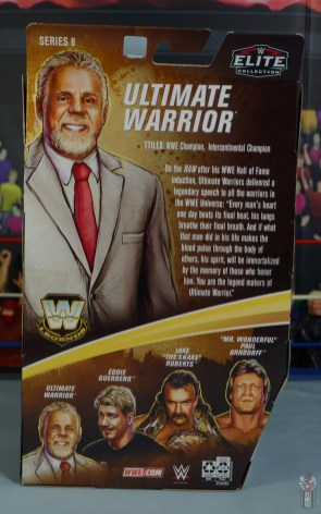 wwe legends series 8 ultimate warrior figure review - package rear