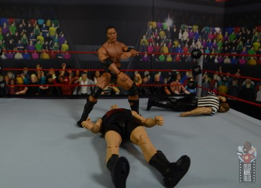 wwe ultimate edition the rock figure review - readying the people's elbow