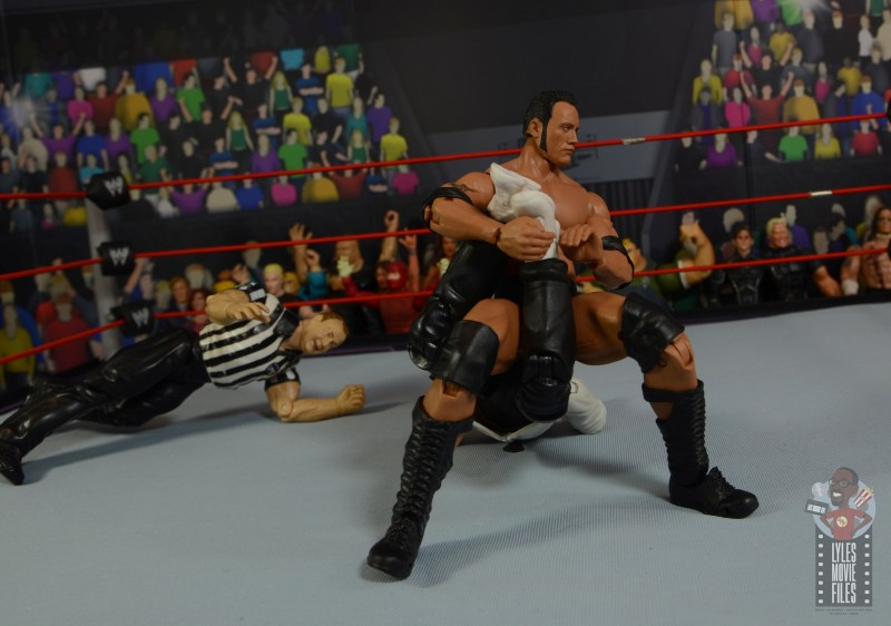 wwe ultimate edition the rock figure review - survivor series screwjob to mankind