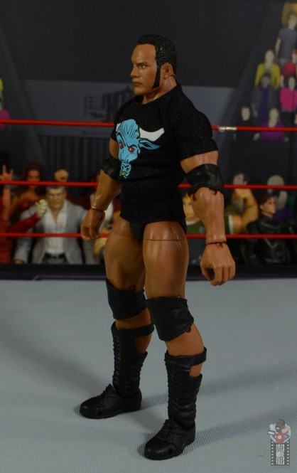 wwe ultimate edition the rock figure review - t-shirt left side