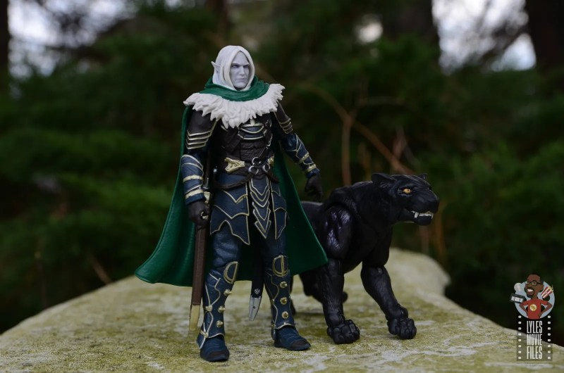 dungeons and dragons drizzt and guenhwyvar figure review - enjoying the moment