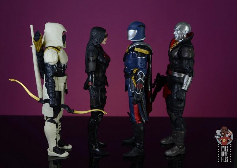 gi joe classified series cobra commander figure review - facing storm shadow, baroness and destro