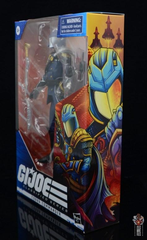 gi joe classified series cobra commander figure review - package left side
