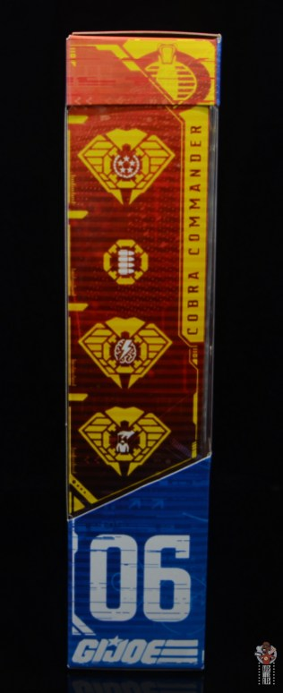 gi joe classified series cobra commander figure review - package right side