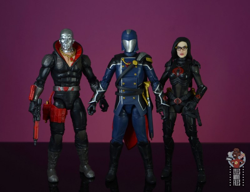 gi joe classified series cobra commander figure review - scale with destro and baroness