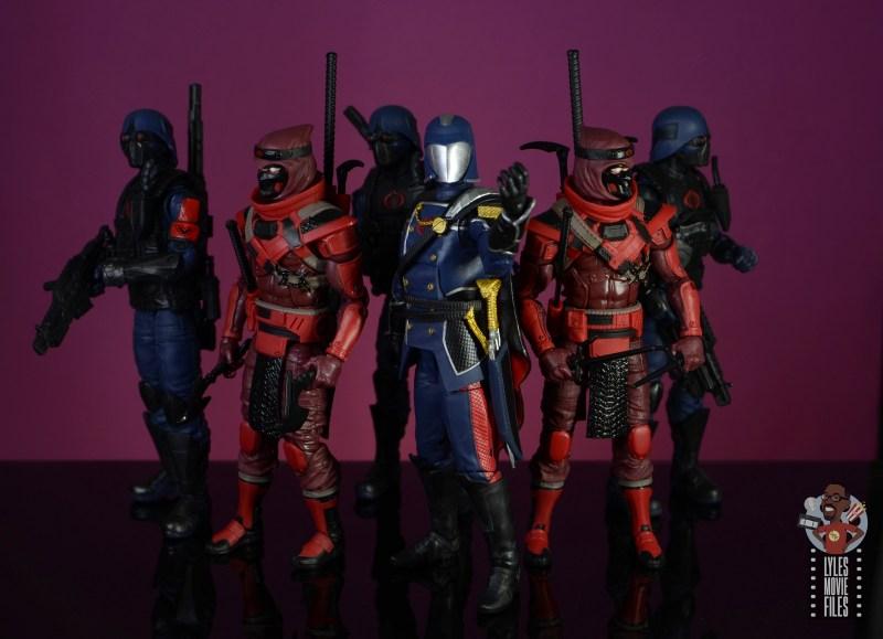 gi joe classified series cobra commander figure review - with red ninjas and cobra troopers