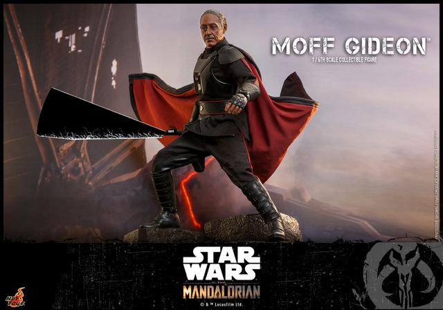 hot toys the mandalorian moff gideon - motion dark saber