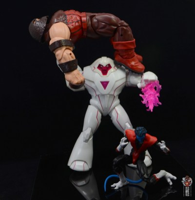 marvel legends nimrod, fantomex and psylocke figure review - nimrod defeated juggernaut