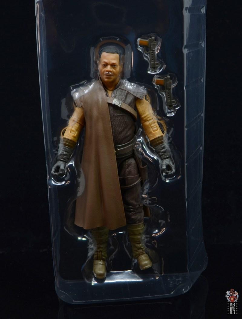 star wars the black series greef karga figure review - accessories in tray