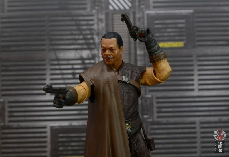 star wars the black series greef karga figure review - aiming pistols