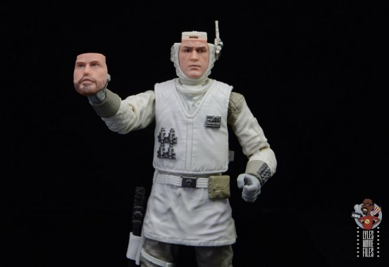 star wars the black series hoth trooper figure review - holding alternate face plate
