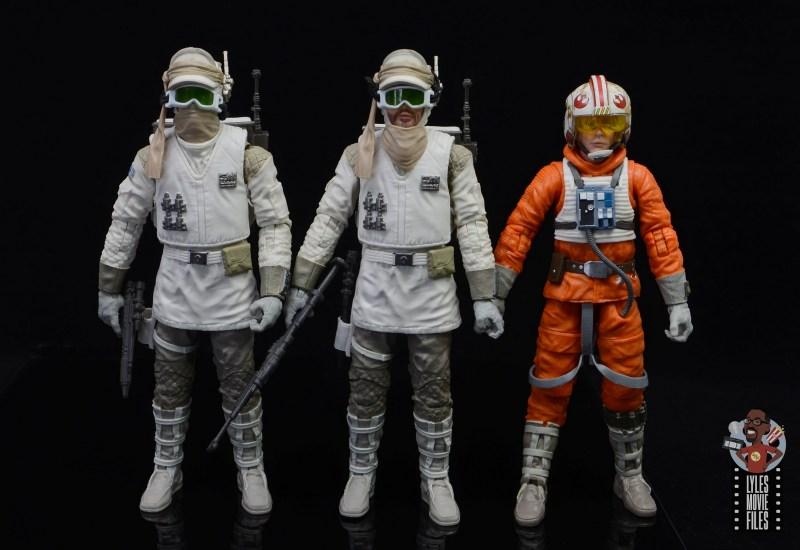star wars the black series hoth trooper figure review - scale with snowspeder luke skywalker