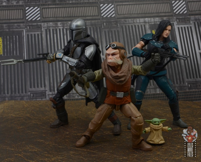 star wars the black series kuill figure review - ready for action with mandolorian and cara dune