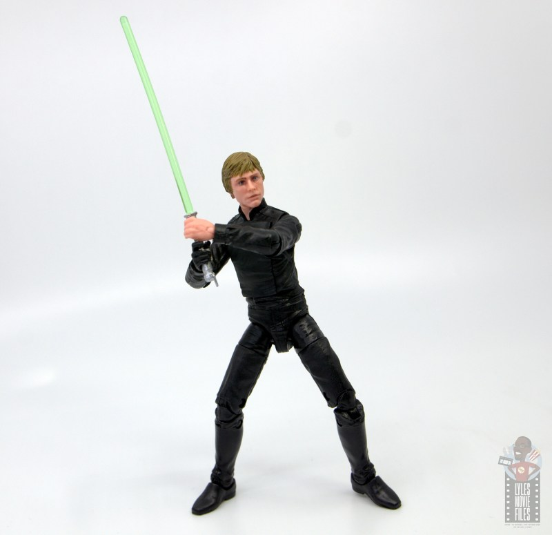 star wars the black series luke skywalker endor figure review - drawing lightsaber back