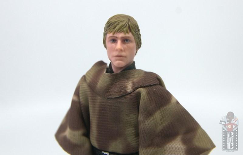 star wars the black series luke skywalker endor figure review - head sculpt close up